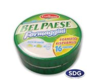 Round box x 16 wedges of processed cheese - 360gr