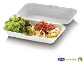Food Box en pulpe de cellulose 23,5 x 14 x 6,7 cm - 3448